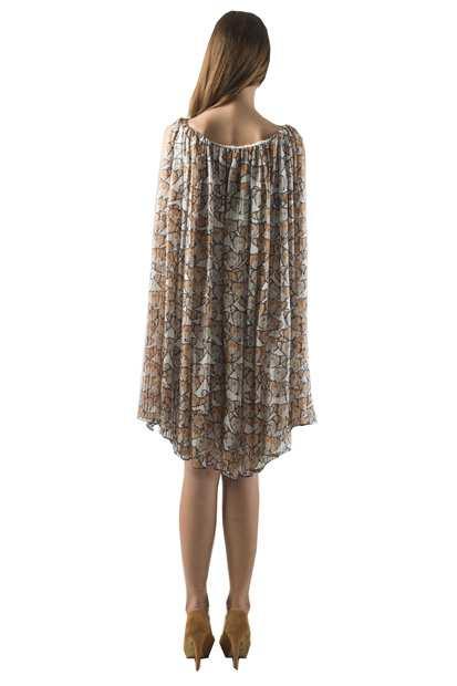 Butterflyshort, Eki Orleans silk african print dress