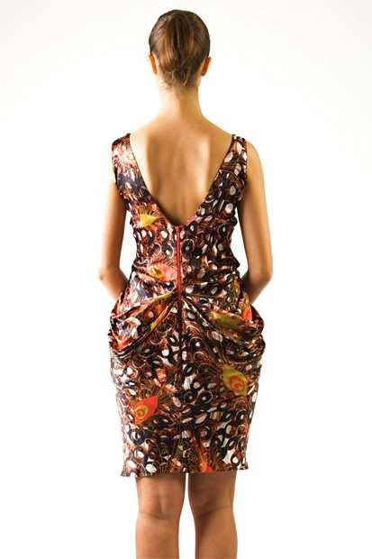 Eki Orleans Thalassaprintback, Eki Orleans silk african print dress