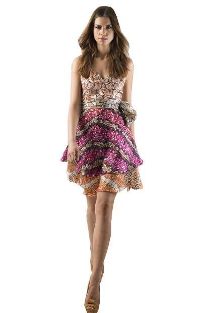 shortmultidress, Eki Orleans silk african print dress