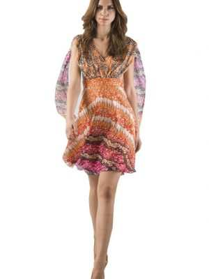 Eki Orleans -butterflydress, Eki Orleans silk african print dress