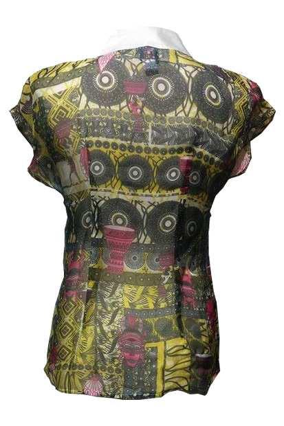 SliceofAfrica Blouse_back, silk african print blouse