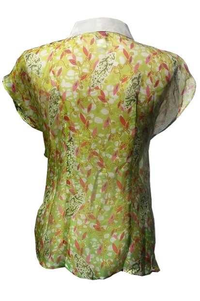 SliceofAfrica Blouse_back, Eki Orleans silk african print blouse