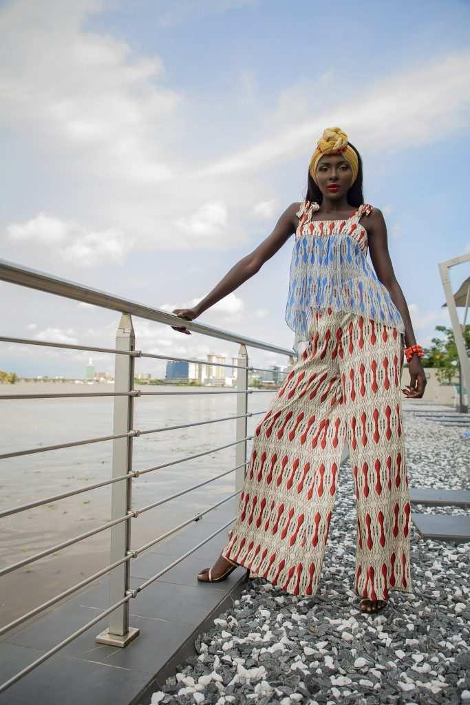 Eki african silk blouse