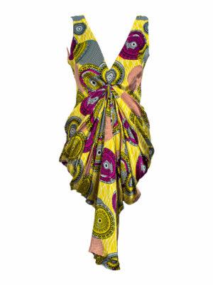 lime silk dress