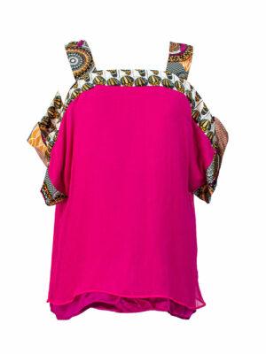Pink silk blouse