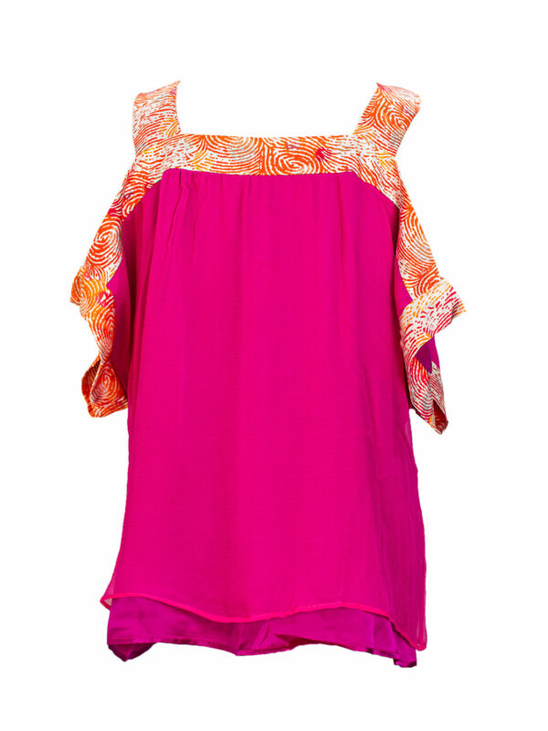 silk print blouse