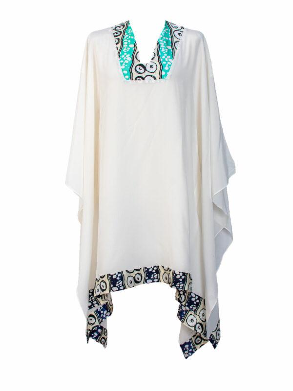 White Silk kaftan