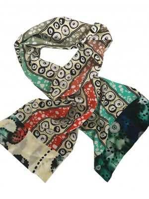 African printed silk scarves