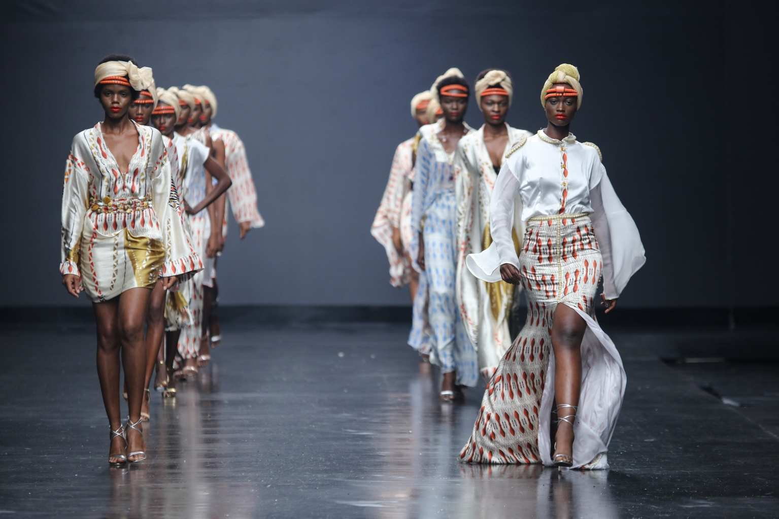 Eki models at lagos fashion week