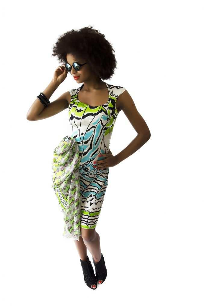 Eki Orleans african inspired silk sustainable print dress