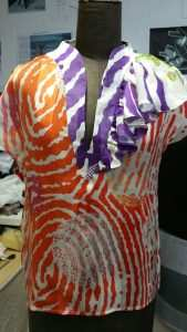 Eki Orleans african inspired sustainable print blouse