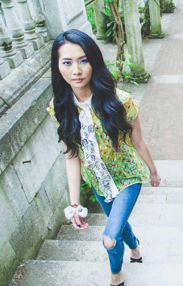 sustainable printed african silk kaftan blouses