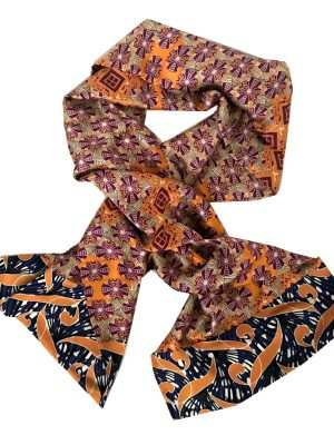 African inspired silk scarves