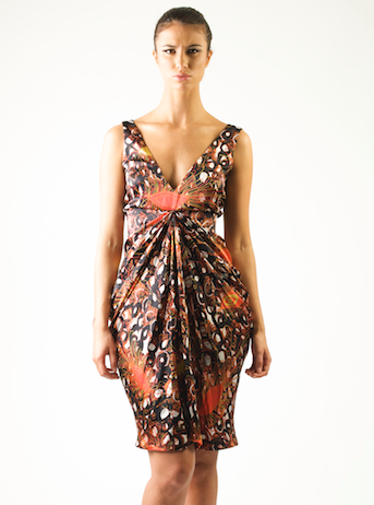 Eki Orleans silk black evening dress