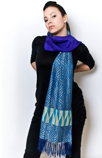Eki Orleans african silk scarves